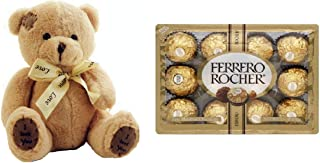 Valentine's Day Gift For Him Her or Kids Ferrero Rocher Chocolates & Teddy Bear