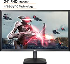 "LG 24"" FHD (1920 x 1080) IPS Anti-Glare Monitor, FreeSync Technology, 75Hz Refresh Rate, 1000:1 Contrast Ratio, 5 ms Response Time, HDMI & VGA Ports, Black, iPuzzle HDMI Cable 4ft"