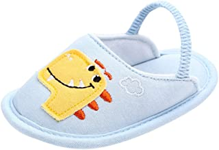 Lurryly❤2019 Rainbow Animals Warm Slippers Winter Baby Girls Boys First Walker Floor Shoes 0-18 M