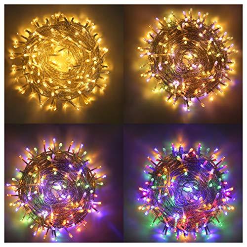 LED Lichterkette Innen, Ollny 10M 100 LED Lichterketten für zimmer, Warmweiß und Bunt, Dimmbar Fairy String Lights für Innen Outdoor Weihnachten Party Garten Hochzeit Deko