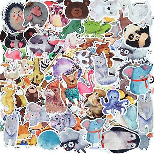130 Stück Tieren Aufkleber,Wasserfeste Vinyl Sticker Set für Laptop, Koffer, Helm, Motorrad, Skateboard, Snowboard, Auto, Fahrrad, Computer, Graffiti und Kawaii Aufkleber Decals Sticker