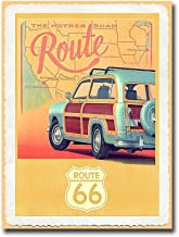 'Route 66 Vintage Travel' by Edward M. Fielding Premium Gallery Wrapped Canvas Giclee Art (16 in x 12 in, Ready to Hang)