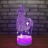 Alpaca Camello Jarra Cicatriz por defecto niña Piel Rifle Blanco Crack lámpara Base Color Noche luz Ventilador Regalo decoración del hogar