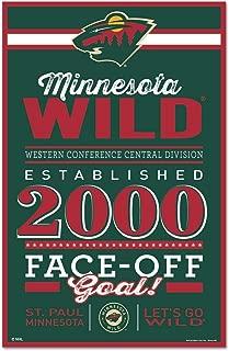 WinCraft NHL Minnesota Wild SignWood Established Design, Team Color, 11x17