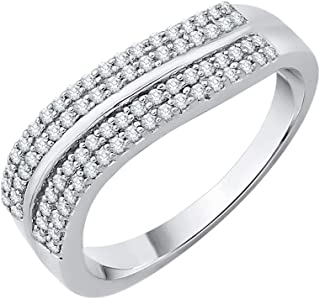 Diamond Wedding Band in 10K Yellow Gold Size-4.25 G-H,I2-I3 1//6 cttw,