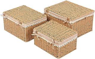 HTDZDX Boîte de Rangement cosmétique de Panier de Rangement de vêtements Sales, Panier de Rangement en rotin de Tissu, Pan...