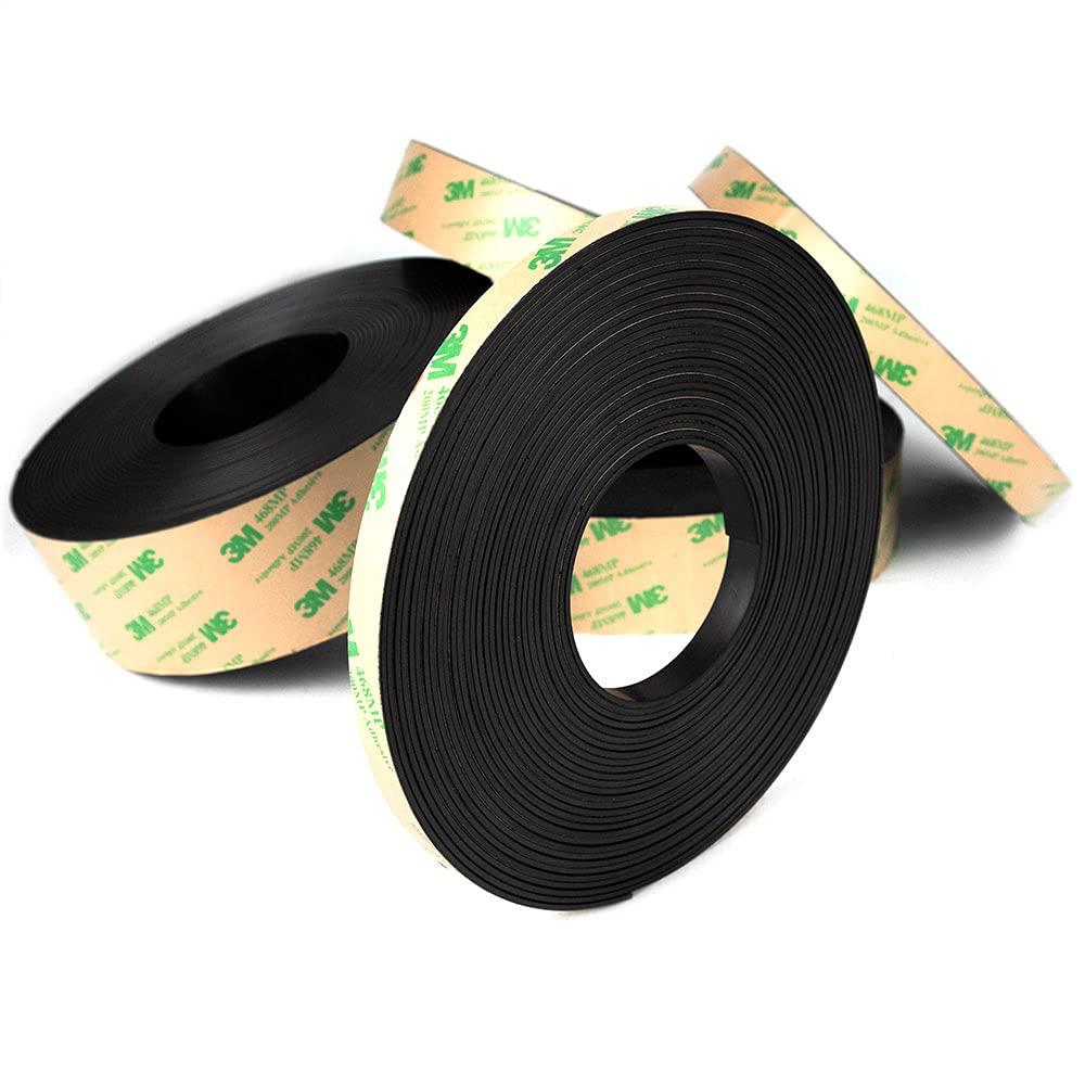 Rollo magnético adhesivo flexible, cinta magnética en rollo de 10 m, ancho 10 mm, grosor 1,5 mm