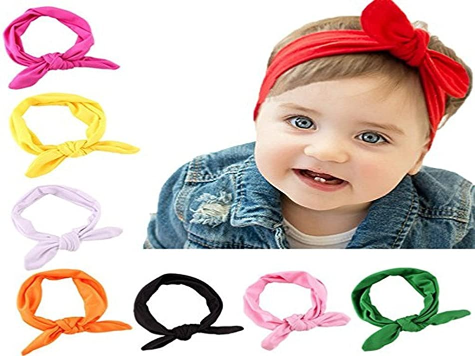 Romote Baby Girl Headbands Newborn Toddlers Headwear, Head Wrap Knotted Hair Band Headwear