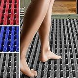 etm Suelo Antideslizante para Piscina - Alfombra de Drenaje | Aqua-Grip | Suelo Anti-Fatiga para pies Descalzos | Loseta ventidada para Zonas húmedas | Gris, (60x100 cm)