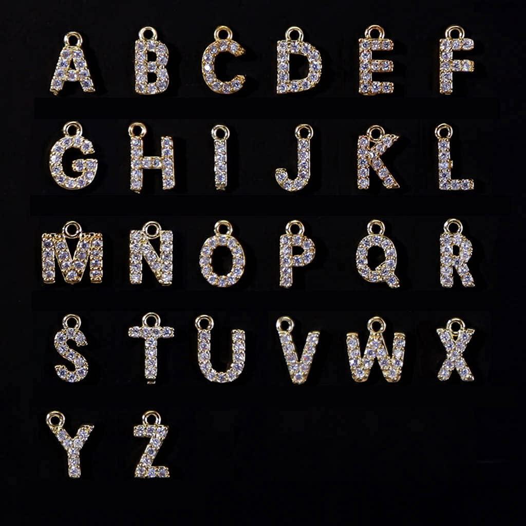 Xdodnev 26pcs Set A-Z 26 English 3D Nail Art Letters Rhinestones ...