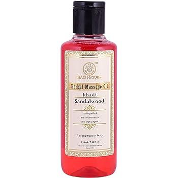 Khadi Natural Sandalwood Massage Oil, 210ml