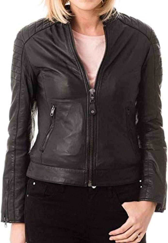 New Fashion Style Women's Leather Jackets Black I89_