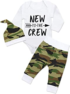 Newborn Baby Boy Clothes New to The Crew Letter Print...