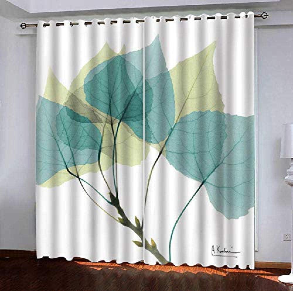 Blackout Regular dealer Window Curtainpanels Popular standard Blue Insulated Leaves Room Thermal