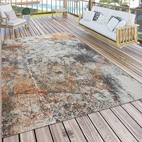 Paco Home In- & Outdoor-Teppich Für Balkon Und Terrasse, Mit Vintage-Muster, In Bunt, Grösse:160x220 cm