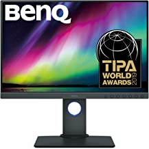 BenQ 24.1 inch Color Accuracy Photography Monitor, Professional Display, 1920x1200, IPS, 99% Adobe RGB, Accurate Hardware...