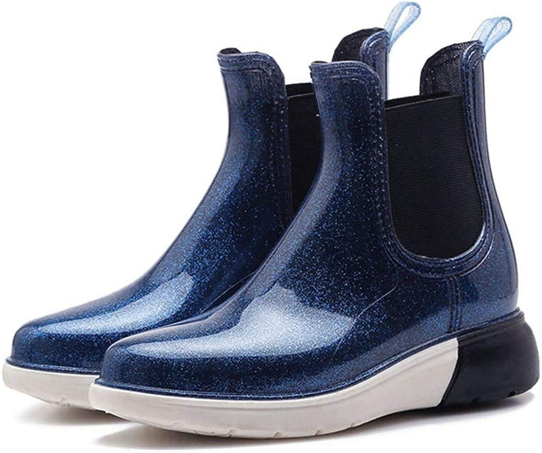 York Zhu Women's Waterproof Rain Boots,Cute Rubber Fashion Rain Boots