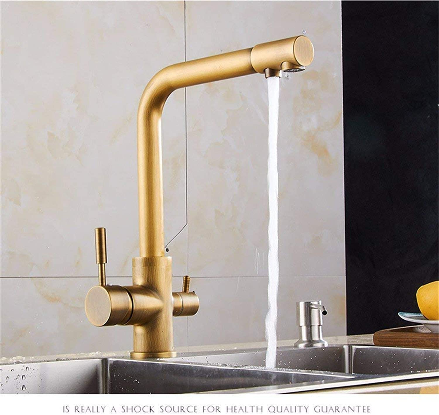 Creative copper water straight drink faucet sink hot and cold water kitchen faucet can redate (color   -, Size   -)