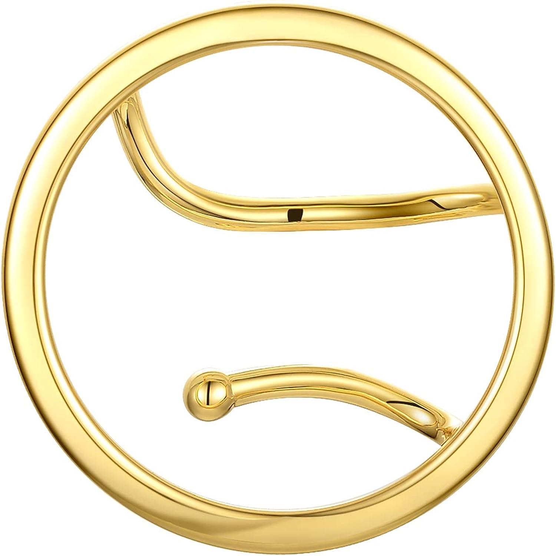 EF ENFASHION Trendy Unique Single Earring Hoop Clip on Earrings, Ear Cuff Earrings for Women / Teen Girls - Ear Clip Worn Only on the Left Ear.
