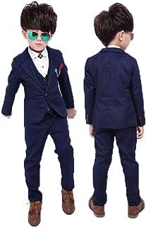 子供タキシード シャツ付き キッズ フォーマル スーツ 男の子 子供服 グレー ブルー (ネイビ-) 2色 結婚式 発表会 卒業式 卒園式 入園式 七五三 32cst01w