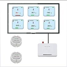 QWERTOUR Registrador de Datos de Temperatura del Sensor de Temperatura del transmisor inalámbrico Monitor de Temperatura Remoto inalámbrico para Congelador 433/868 / 915Mhz