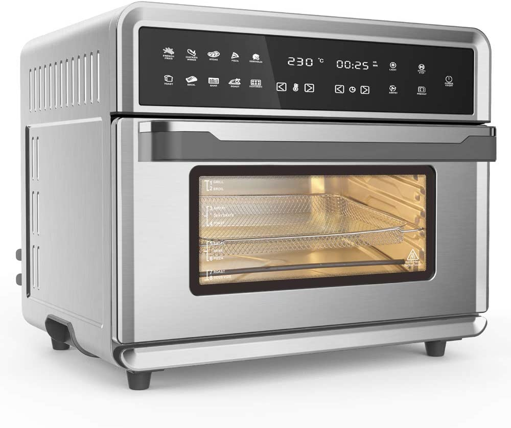 Smart Oklahoma City Mall Air Fryer Oven 1800 W Stainless Steel Louisville-Jefferson County Mall Super 26.4 C QT Big