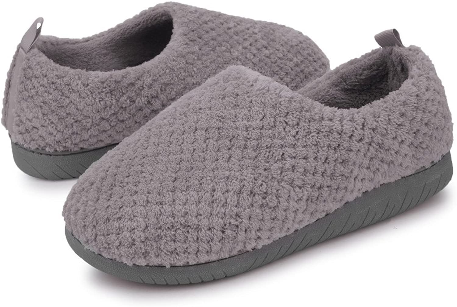 JIASUQI Women's and Men's Slip on Memory Foam Clogs Indoor Home Slippers Casual Fur Warm shoes