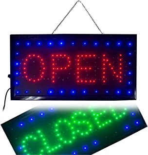 Ovovo Ultra Bright LED 2 in 1 Open Closed Sign, Business Signs for Drink Food Restaurant Diner Cafe Bar Pub Coffee Shop Store Wall Window Display Fixture