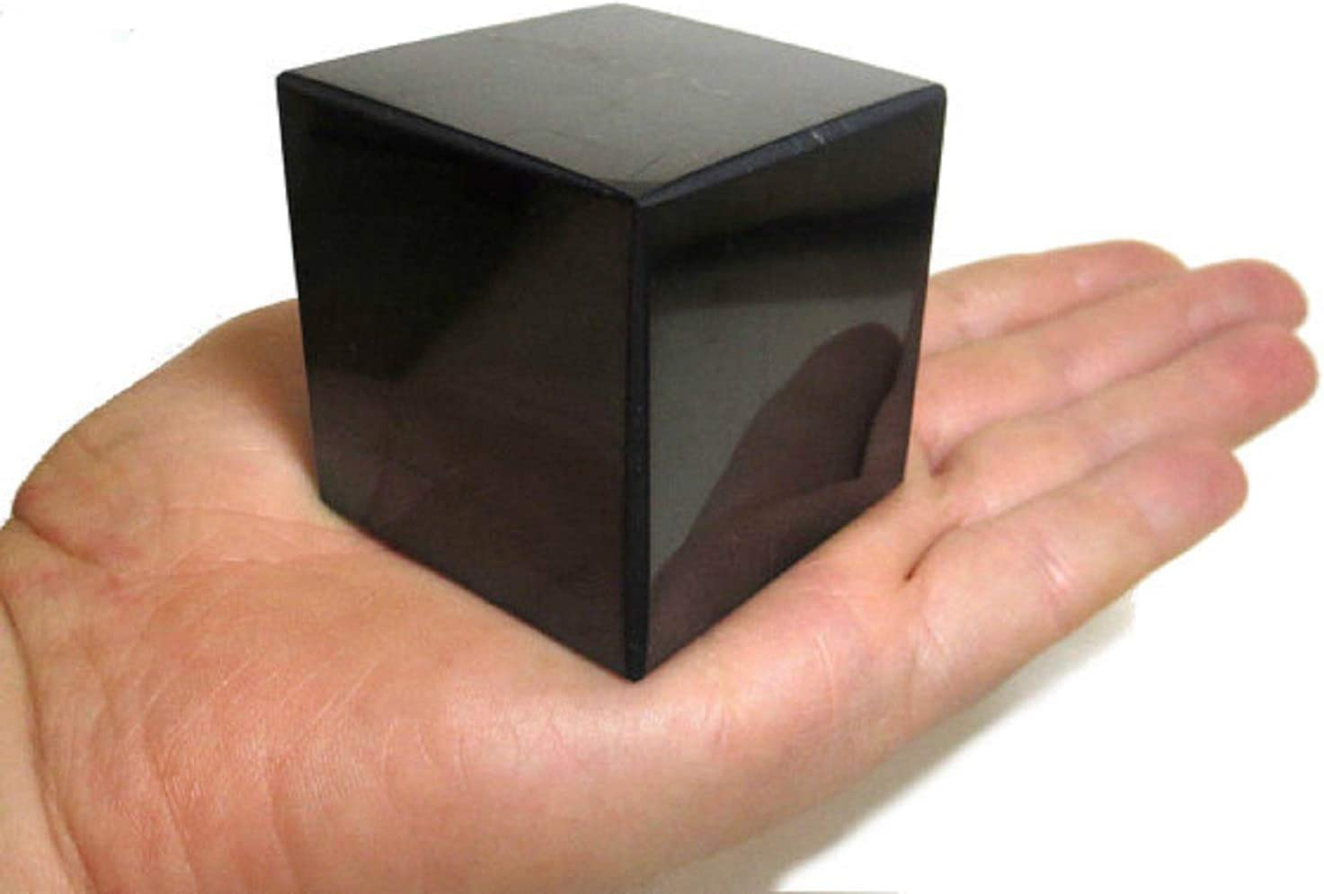 Ranking TOP4 Shungite Polished Charlotte Mall Cubes 60x60mm 2.36x2.36 Crystal Mi inch Cups