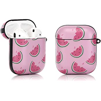 Skateboards Different Compatible with Airpods 2 /& 1 Shockproof TPU Gel Portable Protection Soft Case Cover Skin with Carabiner Clip Keychain