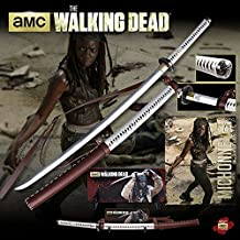 Walking Dead Deluxe Edition The Michonne Sword Katana with Wall Mount