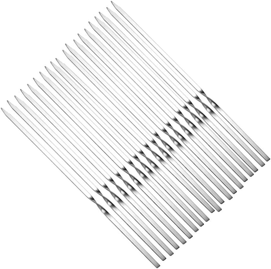 Safety and Boston Mall trust YYAI-HHJU Profession Metal Skewers Stainless BBQ L Steel
