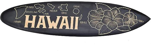 Interlifestyle Hawaii Island Surfboard Surfbrett 100cm Deko schwarz Inseln Maui Oahu Kauai