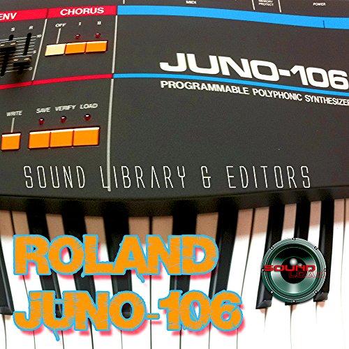 para ROLAND Juno-106 Gran Fábrica & NUEVO Creado Biblioteca de Sonido & Editores en CD/descarga