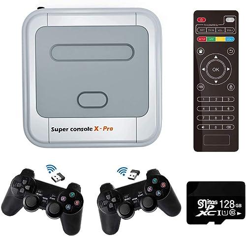 Amrita Console de Jeu vidéo Super Console X Pro Console de Jeu rétro avec 128 Cartes intégrées 41000+ Jeux, Consoles ...