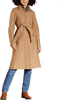 Brooks Brothers Women's Water-Repellent Stretch-Wool Twill Trench Coat