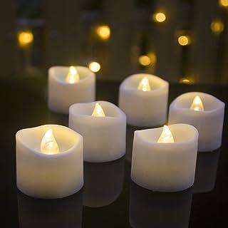 LEDキャンドルライト キャンドル 12 個 ゆらぎ ティーライトキャンドル キャンドルライト無香料 揺らぐ炎 電子ロウソク 蝋燭