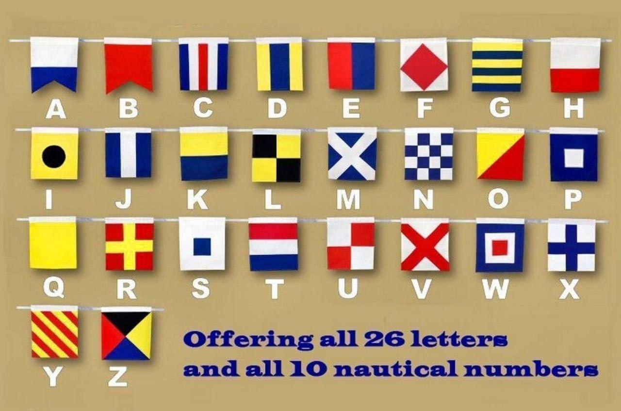 Hampton Nautical Number 1 Nautical Cloth Alphabet Flag