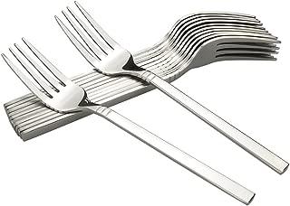 Fosly - Tenedores de mesa (12 piezas, acero inoxidable)