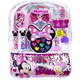 Townley Girl Disney Minnie Mouse Backpack Cosmetic Set, Includes: Lip Gloss Compact, Hair Bows, Nail Polish, Nail File, Lip Balm, Toe Spacer, Nail Stickers