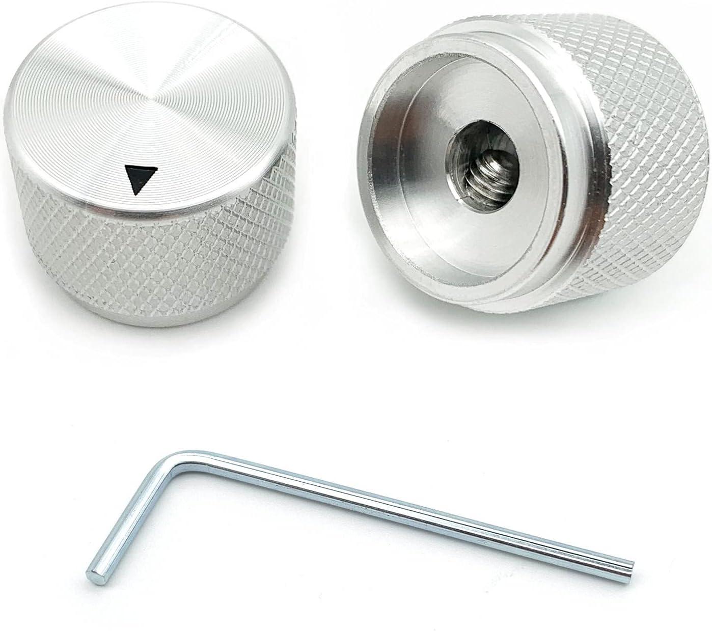 Aluminum Max 53% OFF Electronic Guitar Potentiometer Overseas parallel import regular item Knob for 6 Diameter mm