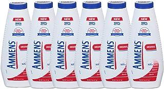 Ammens Talc-Free Medicated Powder. Original, Fresh Sensation, Moisture Absorption, Extreme Comfort. 311g. Pack of 6