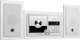 auna Stereosonic Stereo System - Equipo estéreo , Compacto , Montaje en la Pared , Reproductor de CD , USB , Bluetooth , A...