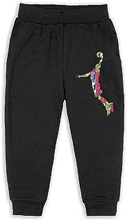 Easionerol Dear-Basketball Logo Girls Long Sweatpants Jogger Trousers