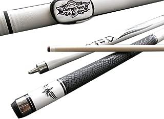 Champion Spider Gator or Snake Skin Billiards Maple Cue 18-21 oz, White or Black Pool case, Glove