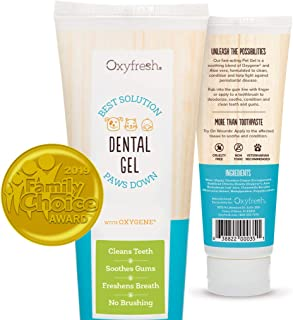 Oxyfresh Pet Toothpaste For Dogs & Cats– Professional formula - Fresh Breath & Healthy Teeth & Gums for Dogs and Cats – Fast-acting Dental Care Pet Gel - Cleans Teeth, Removes Plaque & Freshens Breath