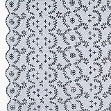 Fabulous Fabrics Baumwollstoff Streifen Rankenstickerei –