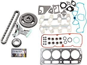 OCPTY Timing Chain Kit for GMC Sonom Chevrolet Cavalier Chevrolet S10 Isuzu Hombre Pontiac Sunfire 2.2L 98 99 00 01 02 03 Gaskets Kit Head Gasket Set