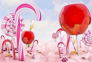 AOFOTO 8x6ft Fantasy Candy Land Backdrop Magic Candy Cane Lollipop Sweet Sugar Lolly Photography Background Icefrozen Apple Dessert Wonderland Bonbon Birthday Photo Studio Props Kid Vinyl Wallpaper