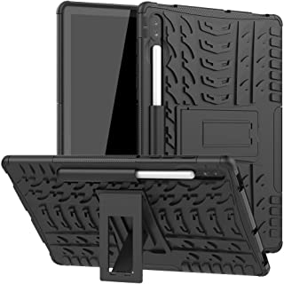 For Samsung Galaxy Tab S6 10.5 inch T860 / T865 Drop Resistant Tire Texture Stand Tablet Case Cover (black)